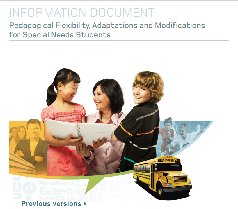 Pedagogical Flexibility, Adaptations and Modifications for special needs students
