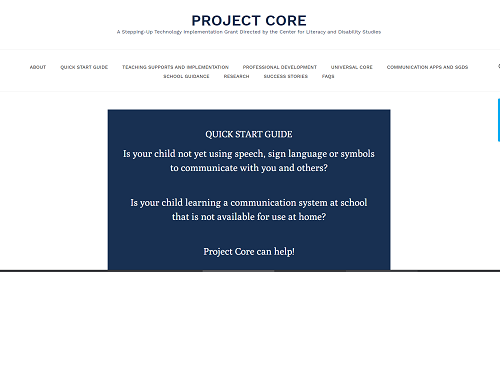 project core website